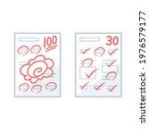 paper test results. vector...   Shutterstock .eps vector #1976579177