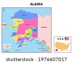 alaska map. state and district... | Shutterstock .eps vector #1976607017