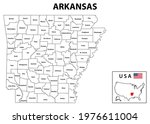 arkansas map. state and... | Shutterstock .eps vector #1976611004