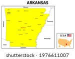 arkansas map. state and... | Shutterstock .eps vector #1976611007