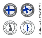 made in finland   set of labels ... | Shutterstock .eps vector #1976635211