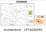 colorado map. state and... | Shutterstock .eps vector #1976636444