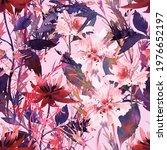 beautiful watercolor floral...   Shutterstock . vector #1976652197