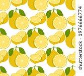 lemon fruits seamless pattern....   Shutterstock .eps vector #1976666774