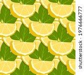 lemon fruits seamless pattern....   Shutterstock .eps vector #1976666777