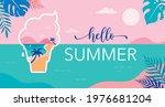 summer time fun concept design. ... | Shutterstock .eps vector #1976681204