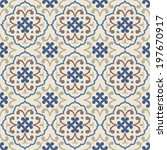 vintage seamless pattern with... | Shutterstock .eps vector #197670917