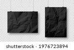 realistic blank hanging paper... | Shutterstock .eps vector #1976723894