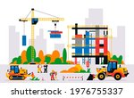 construction site with... | Shutterstock .eps vector #1976755337