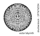 mandala labyrinth abstract... | Shutterstock .eps vector #197676554