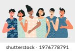 diverse young people group... | Shutterstock .eps vector #1976778791