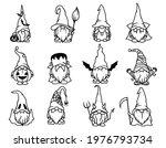 set of halloween gnomes.... | Shutterstock .eps vector #1976793734