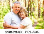 smiling happy  elderly couple... | Shutterstock . vector #19768036