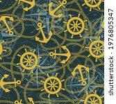 marine anchor ship rudder and... | Shutterstock .eps vector #1976805347