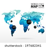 world map background in... | Shutterstock .eps vector #197682341