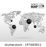 world map background in... | Shutterstock .eps vector #197683811