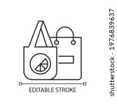 branded bags linear icon.... | Shutterstock .eps vector #1976839637