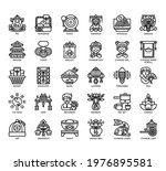set of chinese new year thin... | Shutterstock .eps vector #1976895581