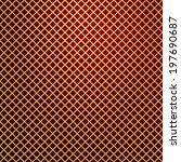 vector gold lattice on red... | Shutterstock .eps vector #197690687