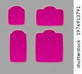 game ui set of square pink ...
