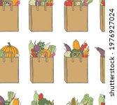hand drawn vegetables in  paper ... | Shutterstock .eps vector #1976927024