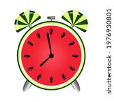 home watch with a watermelon...   Shutterstock .eps vector #1976930801