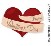 happy valentines day card with...   Shutterstock .eps vector #1976936207