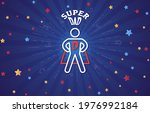 fathers day concept with super...   Shutterstock .eps vector #1976992184