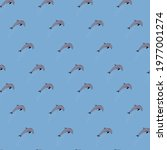 repeating dolphin pattern...   Shutterstock .eps vector #1977001274