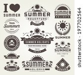 summer design elements and... | Shutterstock .eps vector #197702564