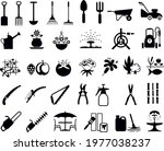 gardening tools and products...   Shutterstock .eps vector #1977038237