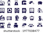 home appliances icons   kitchen ...   Shutterstock .eps vector #1977038477