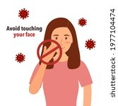 avoid touching your face to... | Shutterstock .eps vector #1977104474