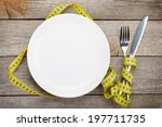 Empty Plate With Measure Tape ...