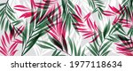 abstract art tropical leaves... | Shutterstock .eps vector #1977118634