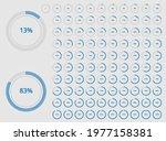 set of round circle percentage...