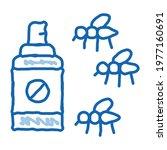 mosquito spray sketch icon...