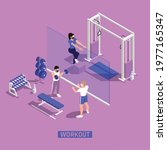 gym fitness workout centra... | Shutterstock .eps vector #1977165347