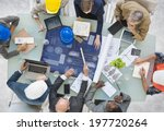 group of architects planning | Shutterstock . vector #197720264