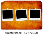 old paper   instant photo  | Shutterstock . vector #19772068