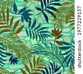 botanical seamless pattern...   Shutterstock .eps vector #1977229157