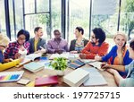 multi ethnic group of people... | Shutterstock . vector #197725715