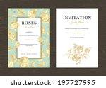 floral vector vertical vintage... | Shutterstock .eps vector #197727995