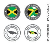 made in jamaica   set of labels ... | Shutterstock .eps vector #1977292124