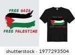 free gaza free palestine....   Shutterstock .eps vector #1977293504