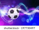 football against curved laser... | Shutterstock . vector #197730497