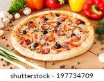 supreme pizza | Shutterstock . vector #197734709