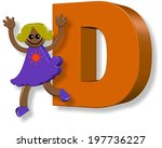 a 3d happy cartoon girl... | Shutterstock . vector #197736227