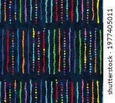 multicolor ethnic stripes... | Shutterstock .eps vector #1977405011