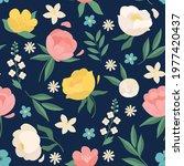 seamless pattern floral... | Shutterstock .eps vector #1977420437